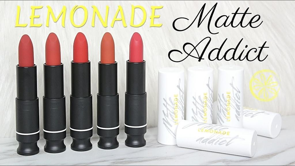 LEMONADE - Son Thỏi Lì Matte Addict Lipstick Bee Tee Beauty