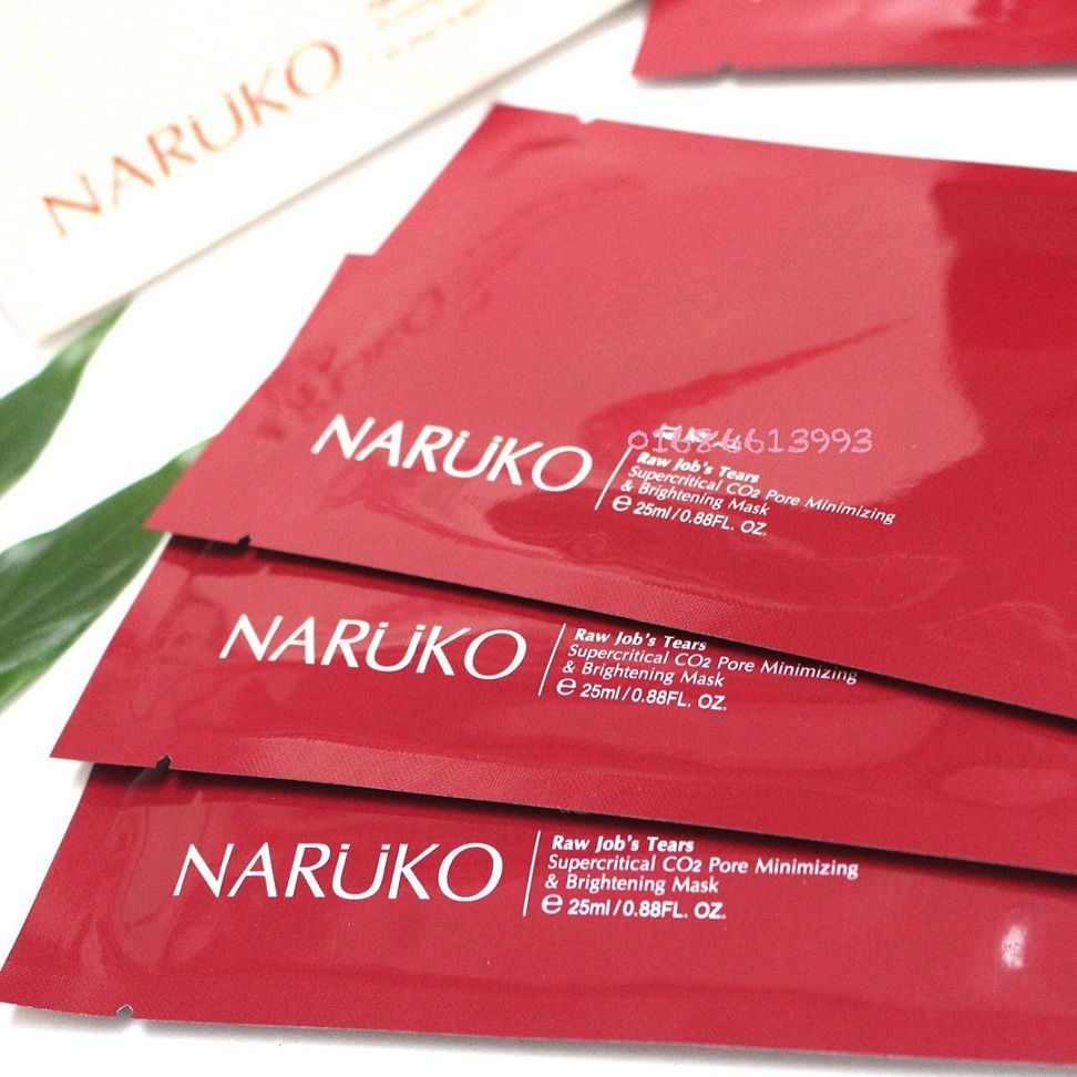 NARUKO - Mặt Nạ RJT Supercritical CO2 Pore Minimizing & Brightening Mask