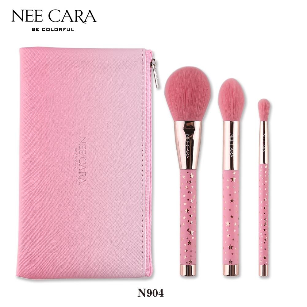NEE CARA - Set cọ trang điểm 3 Piece Brush Set