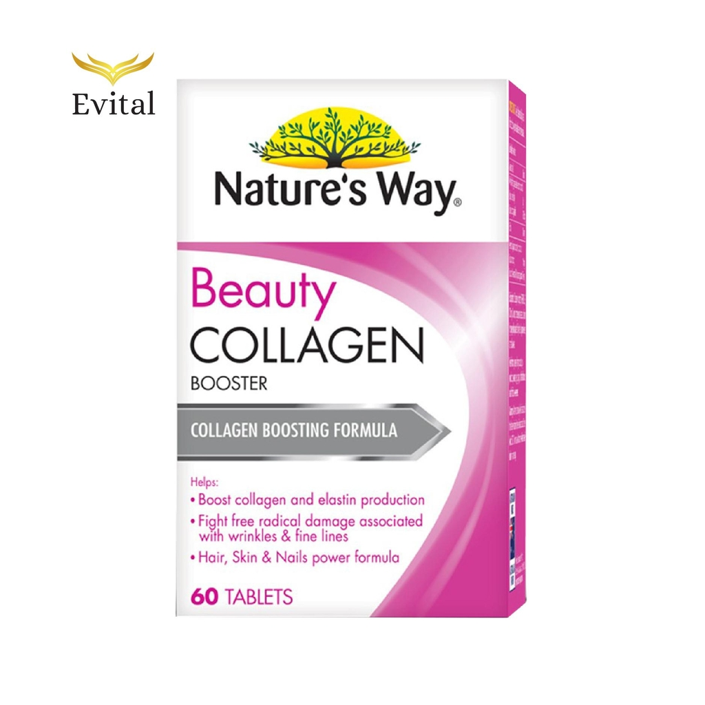 Viên uống Collagen Natures Way Beauty Collagen Booster 60 Tablets