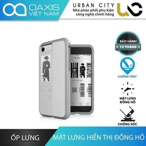 Ốp Lưng iPhone 7 Oaxis InkCase IC2171SA-WE01 Chống Trầy & Chống Sốc Mặt Lưng Đồng Hồ