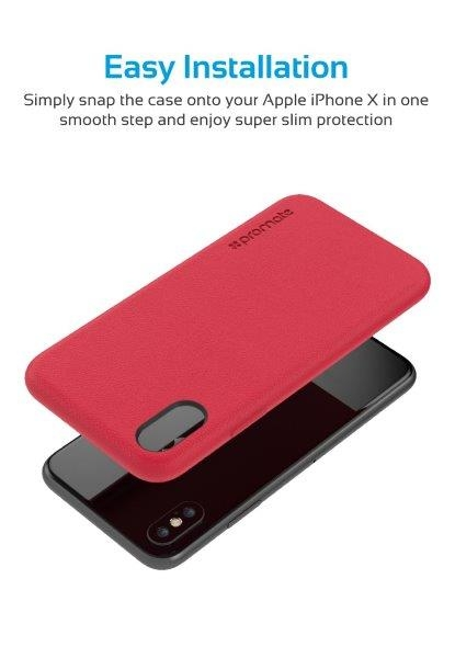 Ốp Lưng Cao Cấp Cho Iphone X Promate COAT-X.RED
