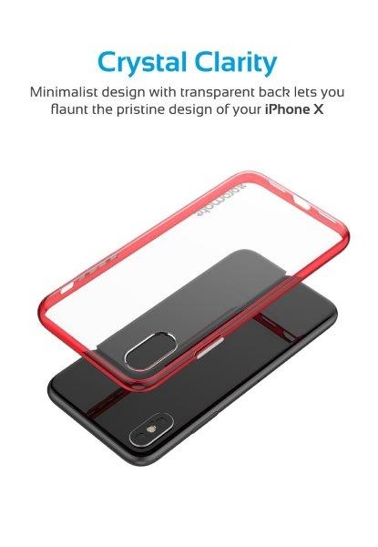 Ốp Lưng Cao Cấp Cho Iphone X Promate FENDY-X.RED