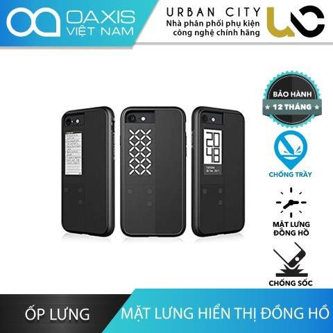 Ốp Lưng iPhone 7 Oaxis InkCase IC2171SA-GY01 Chống Trầy & Chống Sốc Mặt Lưng Đồng Hồ