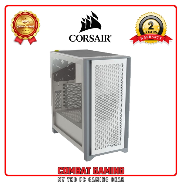 CASE CORSAIR 4000D Airflow TG (Black - White)