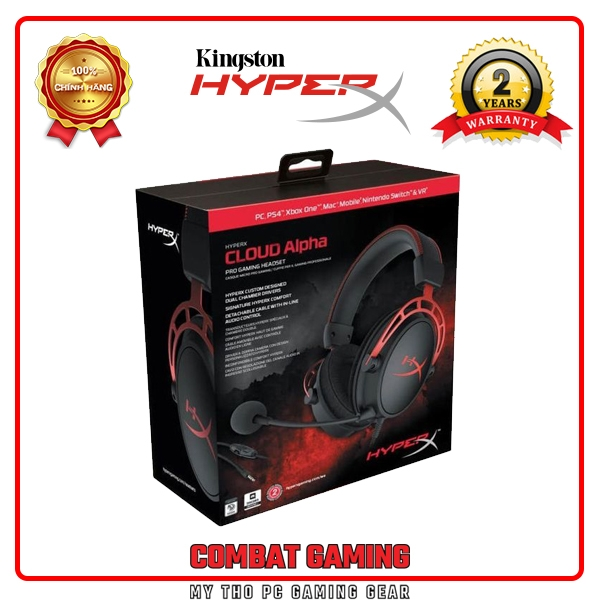 Tai nghe HYPERX CLOUD ALPHA - GAMING HEADSET (Red)