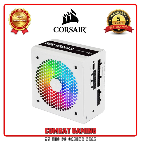 Nguồn CORSAIR CX550F RGB 80 Plus Bronze - Full Modul WHITE