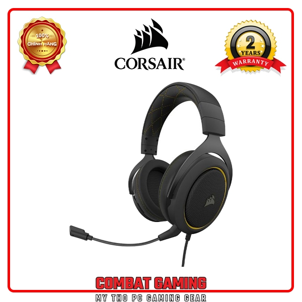 CORSAIR HS60 PRO SURROUND 7.1 (Yellow - Carbon)