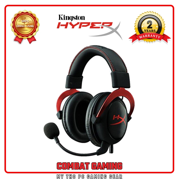 Tai Nghe KINGSTON HYPERX CLOUD II (Gun Metal, Red)