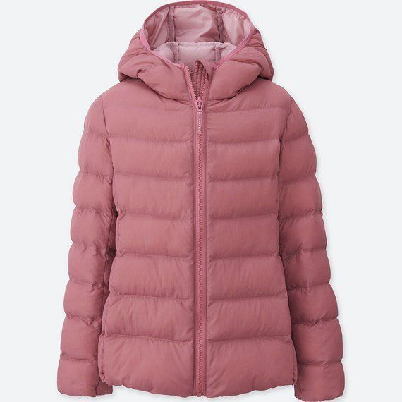 Áo Uniqlo GIRLS LIGHT WARM PADDED 400003   11 Pink