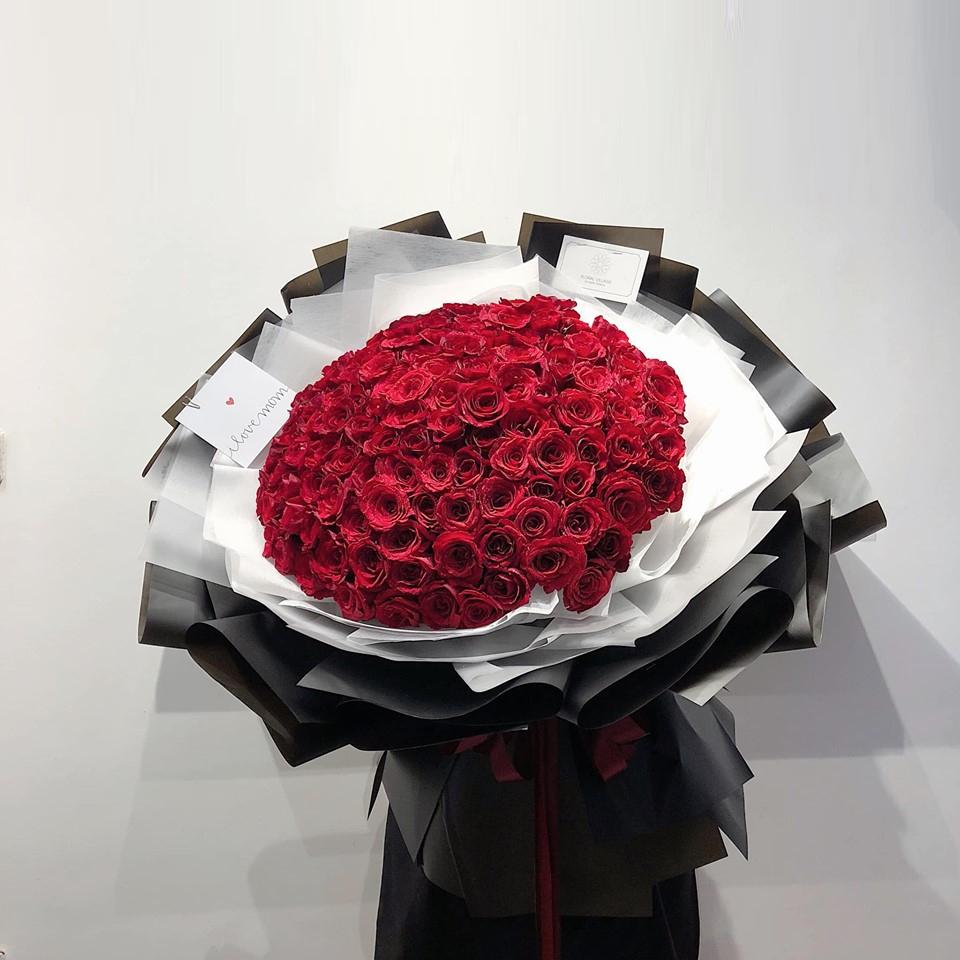BÓ HOA HỒNG ĐỎ 100 BÔNG - Hoa tỏ tình - Điện hoa Hà Nội Quận Cầu Giấy | Eliseflowers - Shop hoa tươi online
