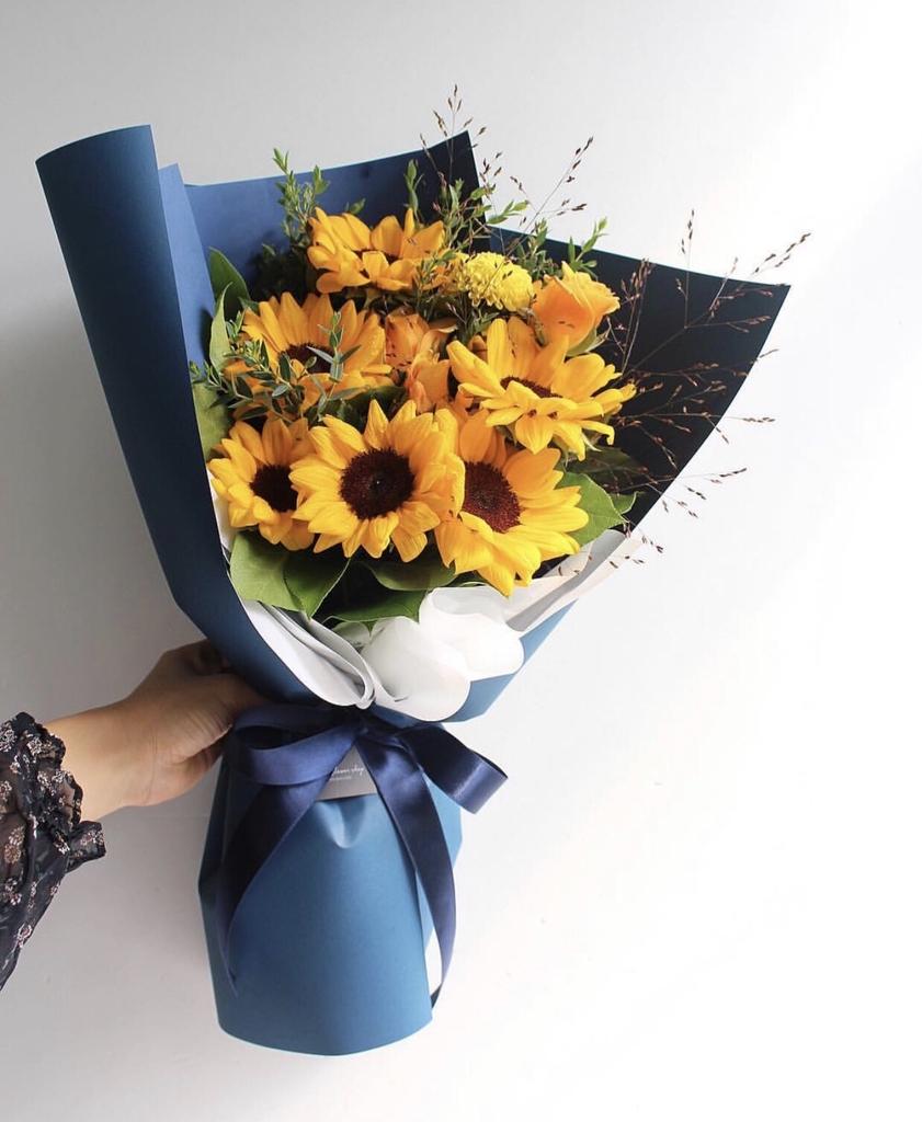 Bó hoa hướng dương đẹp -BH11 - Hoa hướng dương THANH LỊCH ...