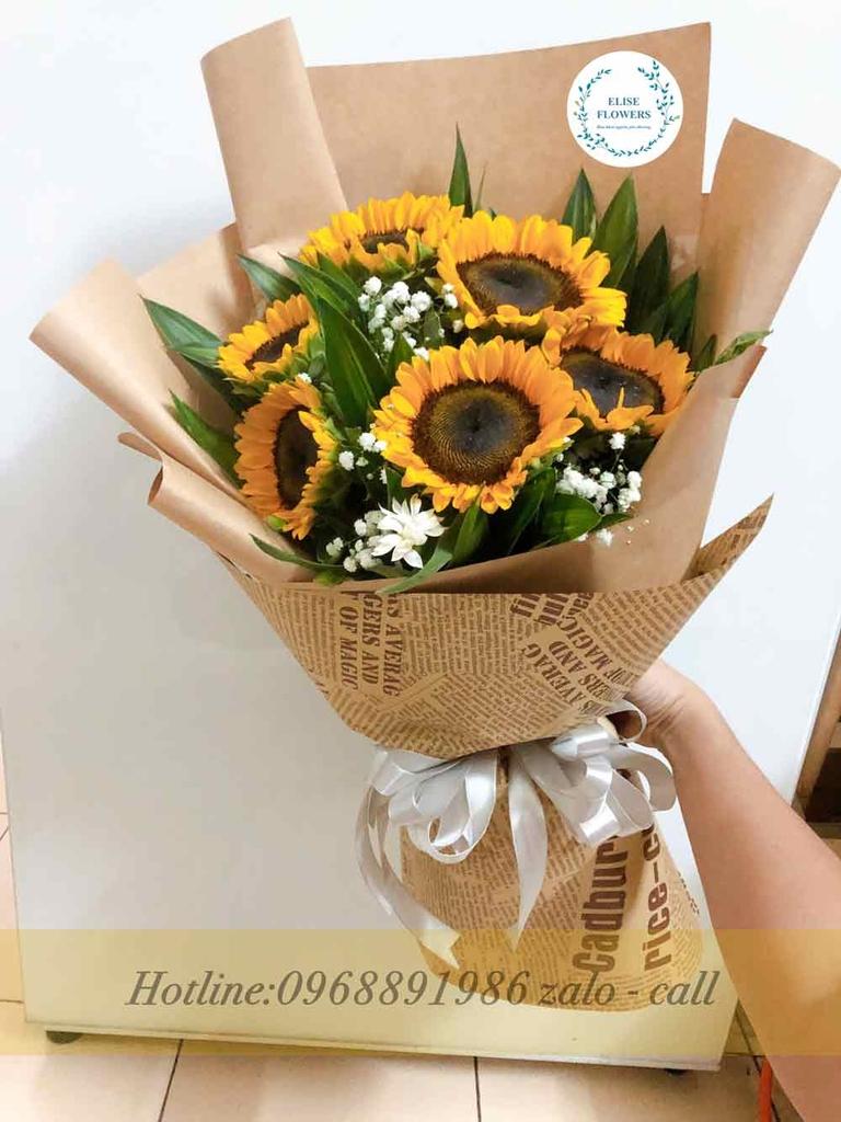 Bó hoa hướng dương - BH33 - Mẫu bó hoa hướng dương đẹp ...