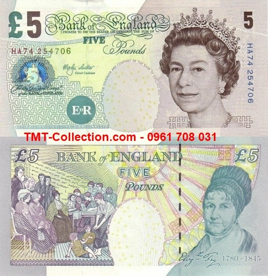 British - Anh 5 pounds 2004 UNC