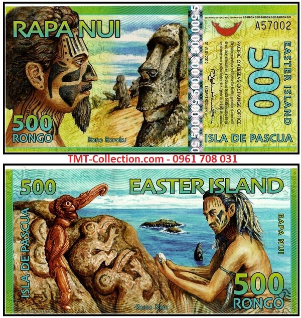 Easter Island - Đảo Phục Sinh 500 rongo 2011 UNC polyme (tờ)