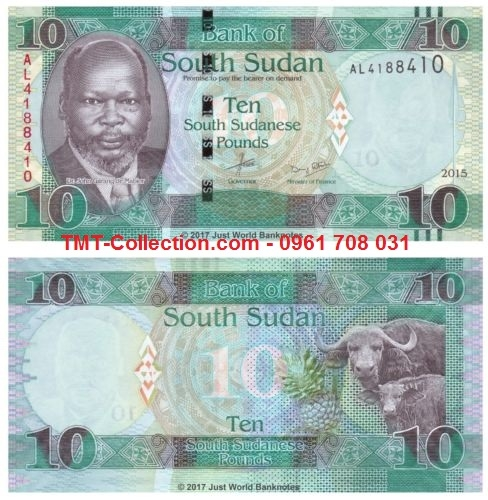 South Sudan - Nam Sudan 10 Pound 2015 UNC (tờ)