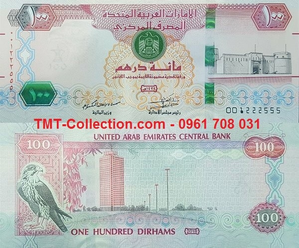 UAE 100 Dirhams 2018 UNC (tờ)