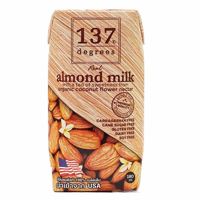 sữa hạt hạnh nhân nguyên chất không đường 137 Degrees 180ml NoSugar Shop