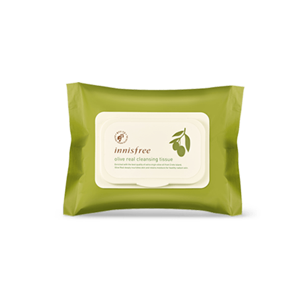 Khăn Giấy Tẩy Trang Innisfree Olive Real Cleansing Tissue 30 miếng
