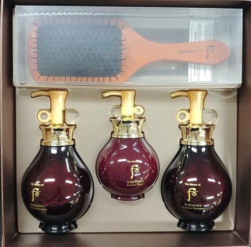 Bộ chăm sóc tóc The History of Whoo Spa Shampoo & Conditioner & Hair Brush Gift Set
