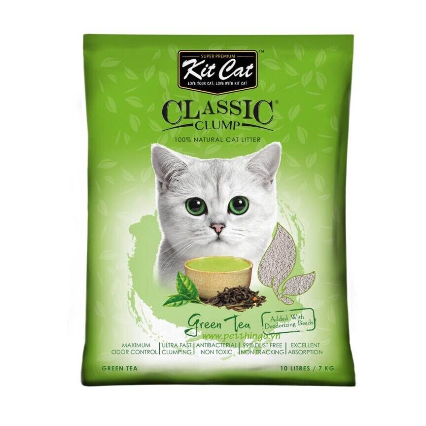 Kit Cat Clumping 10L Greentea