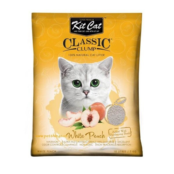 Kit Cat Clumping White Peach 10L