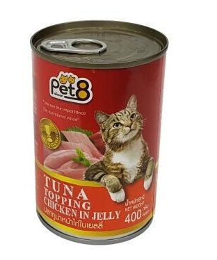 Pet 8 CaNgu&Ga-Tuna&Chicken in jelly