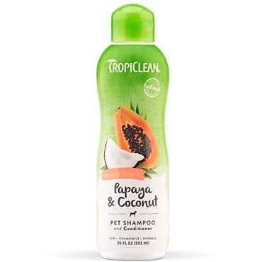 TropiClean Papaya Luxury 2 in 1 Shampoo Plus Conditioner
