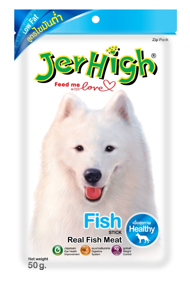 Jerhigh Fish (low fat) 50g / Snack cá