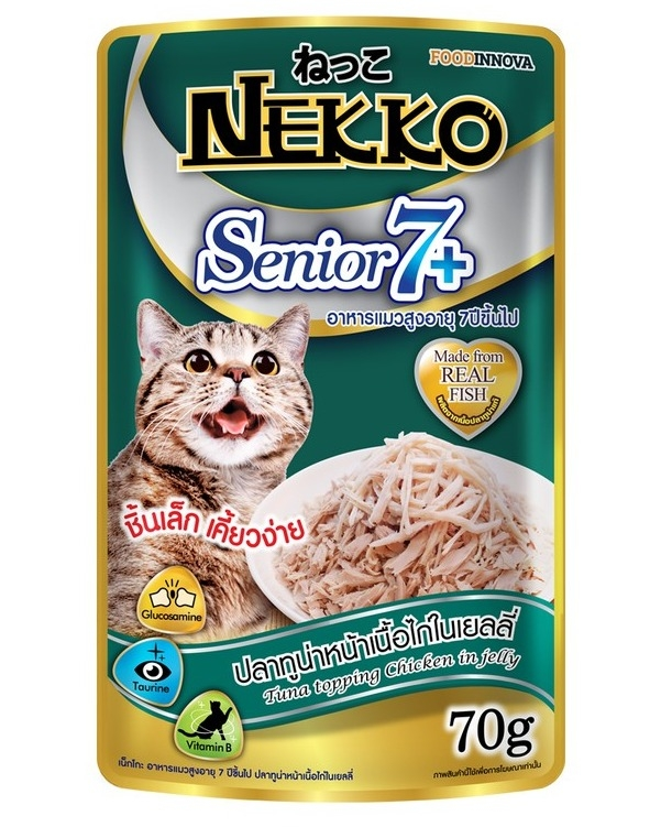 NEKKO Senior CáNgừ Gà 70g - Nekko Tuna Topping Chicken Jelly 70g