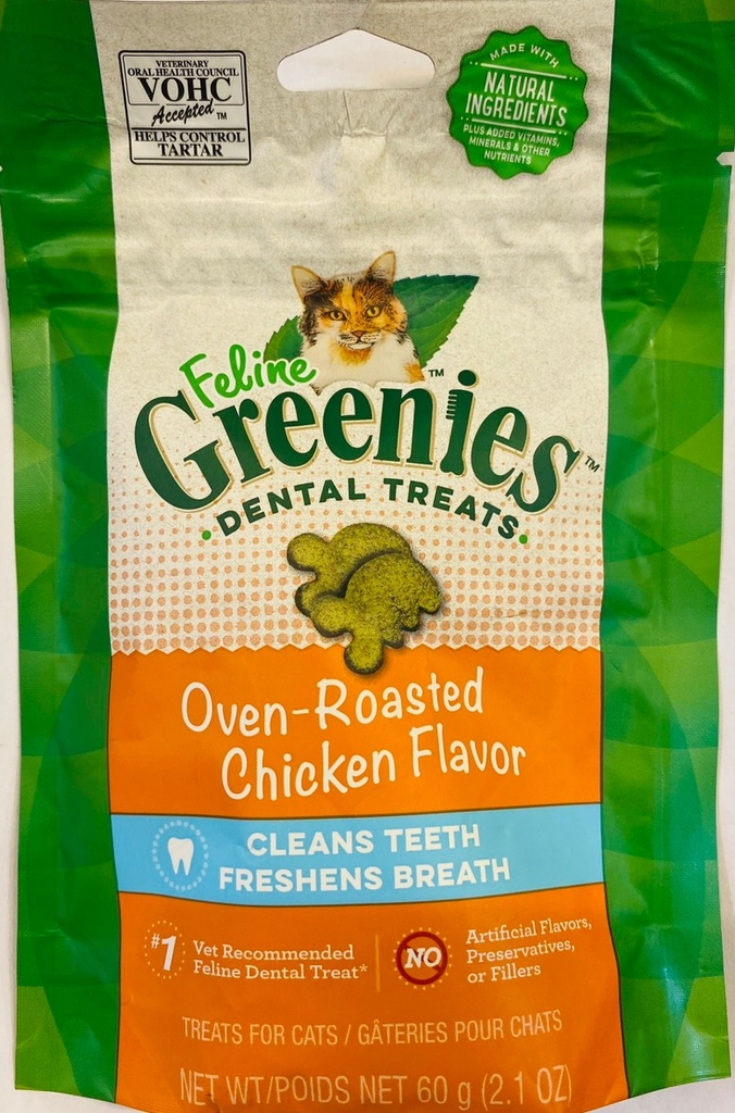 GREENIES Bánh Thưởng (SạchRăng) Vị Gà-Cat Treat Chicken Dental 60g