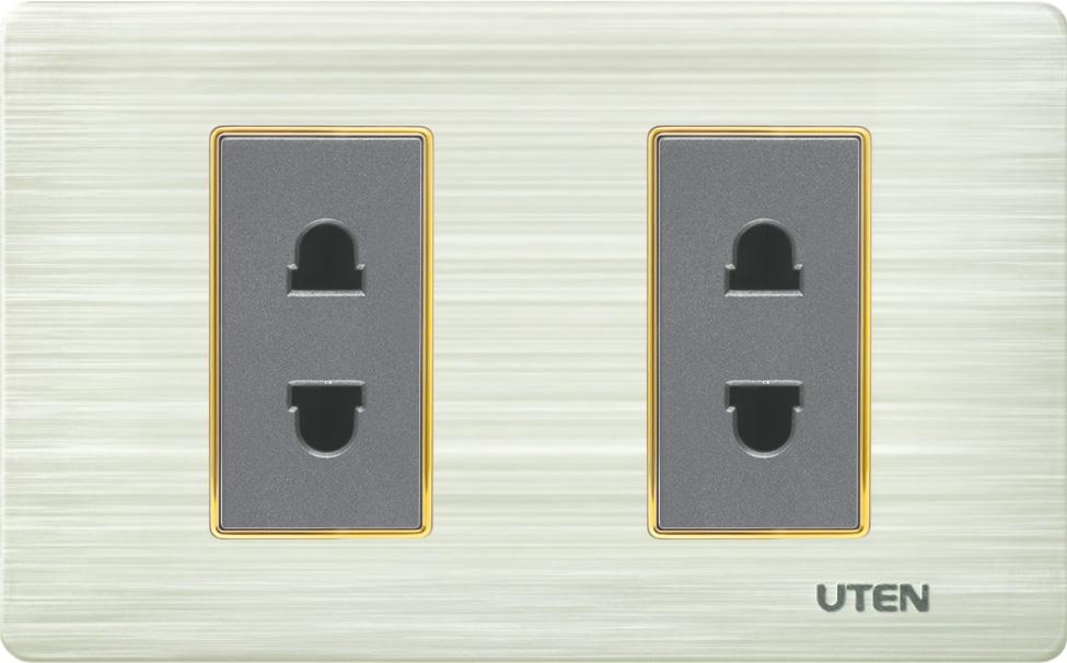 Bộ 2 ổ cắm 2 chấu cỡ S - V7
