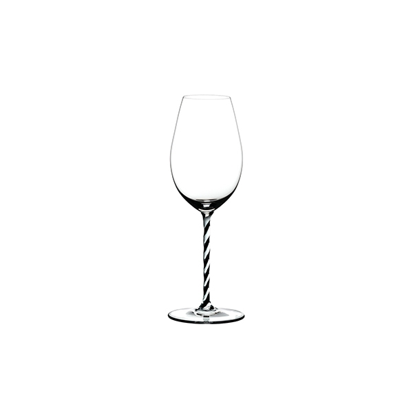 Hộp 1 ly - Fatto A Mano Champagne Wine Glass Black White Twisted 4900/28BWT