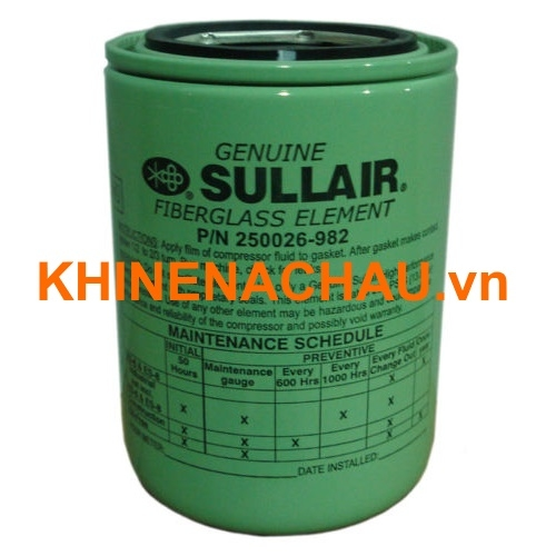 Lọc dầu Sullair 250026-982 oil filter