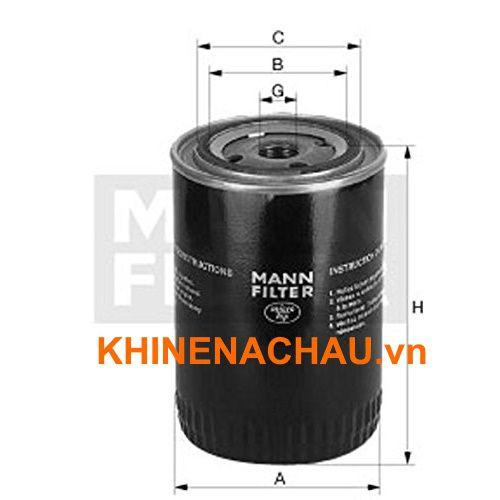 Lọc dầu airpull AO 135 177 Oil filter W1374/2 mann