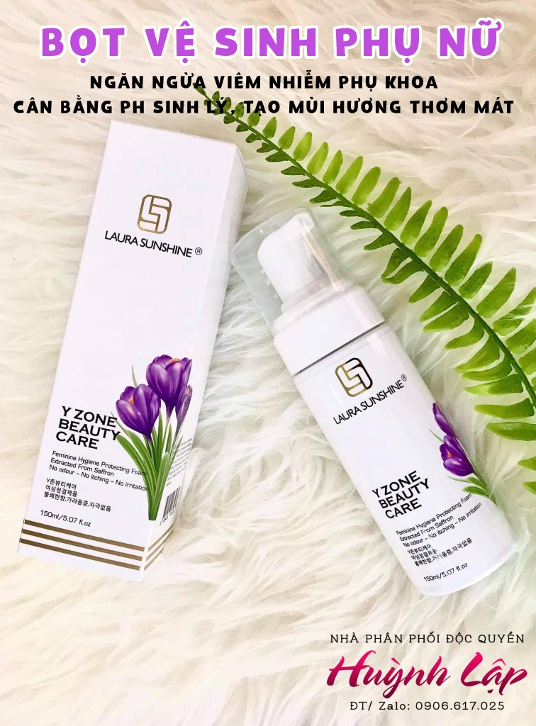 Y ZONE BEAUTY CARE - BỌT VỆ SINH PHỤ NỮ LAURA SUNSHINE