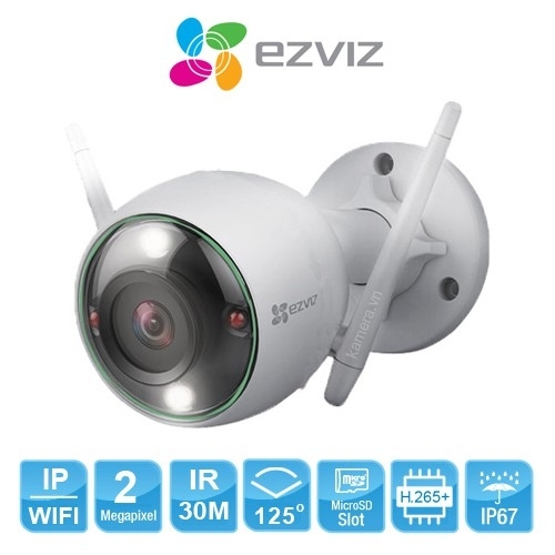 CAMERA EZVIZ WIFI 2MP NGOÀI TRỜI STARLIGHT CS-CV310-C3-6B22WFR
