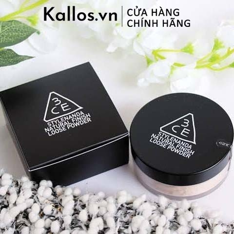 Phấn Phủ 3CE Natural Finish Loose Powder