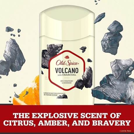 Lăn Khử Mùi Old Spice Volcano with Charcoal Antiperspirant Deodorant