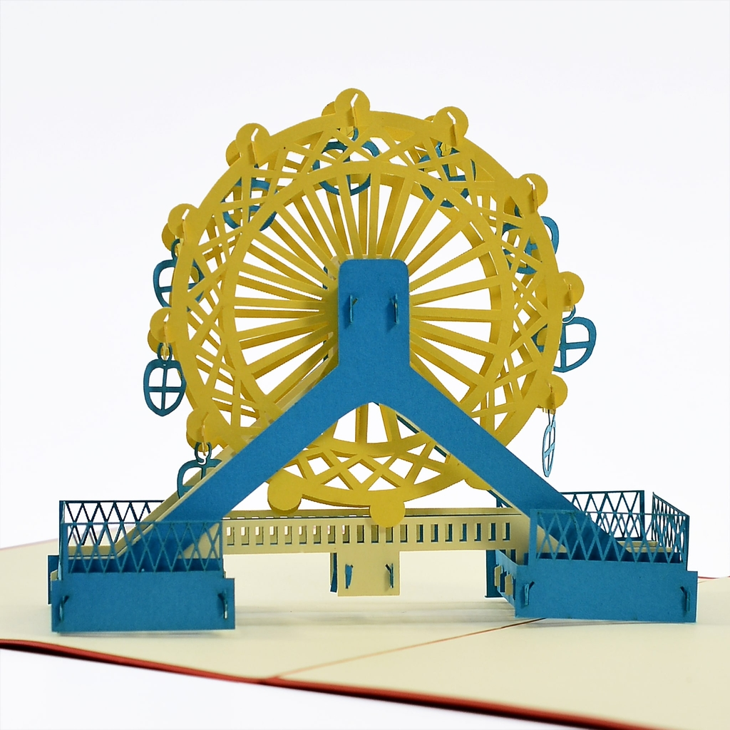 thiệp nổi mô hình 3d vòng du quay london