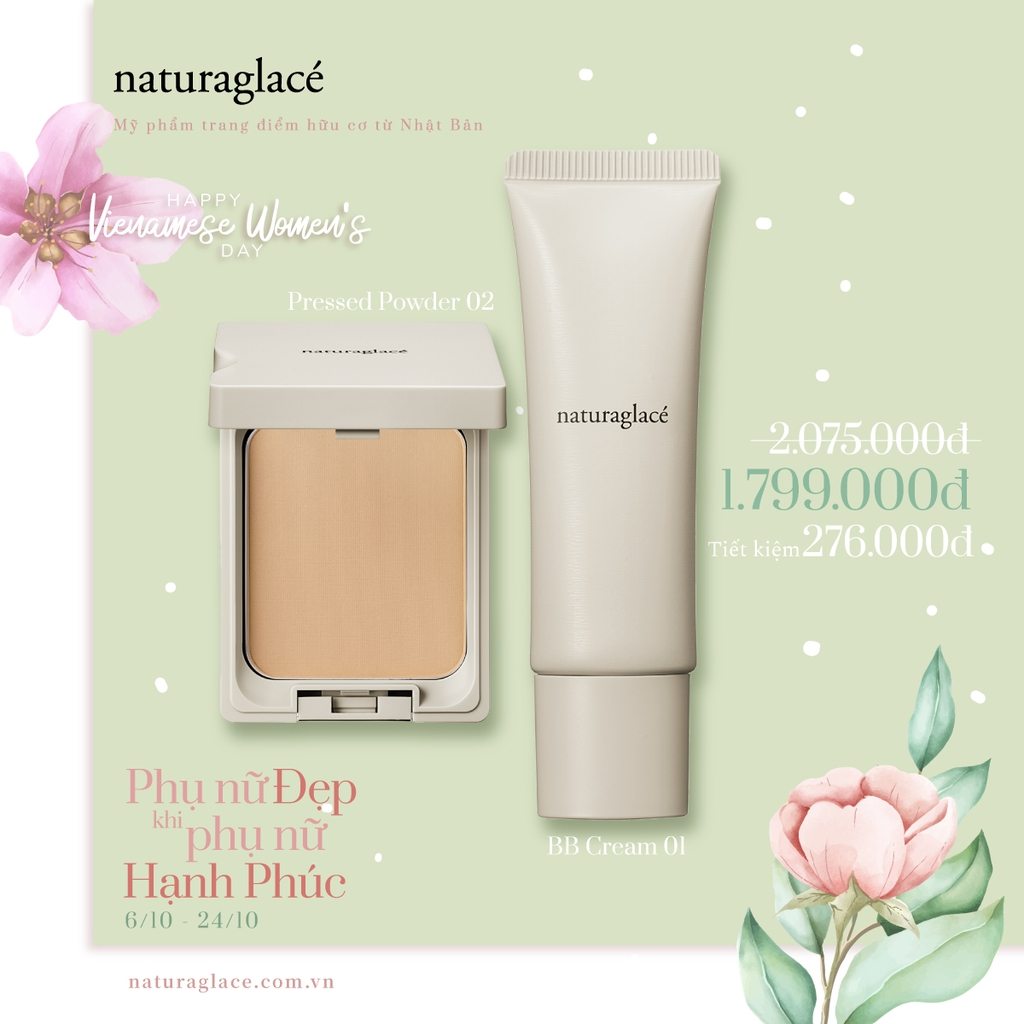 COMBO PHẤN PRESSED POWDER + KEM BB CREAM