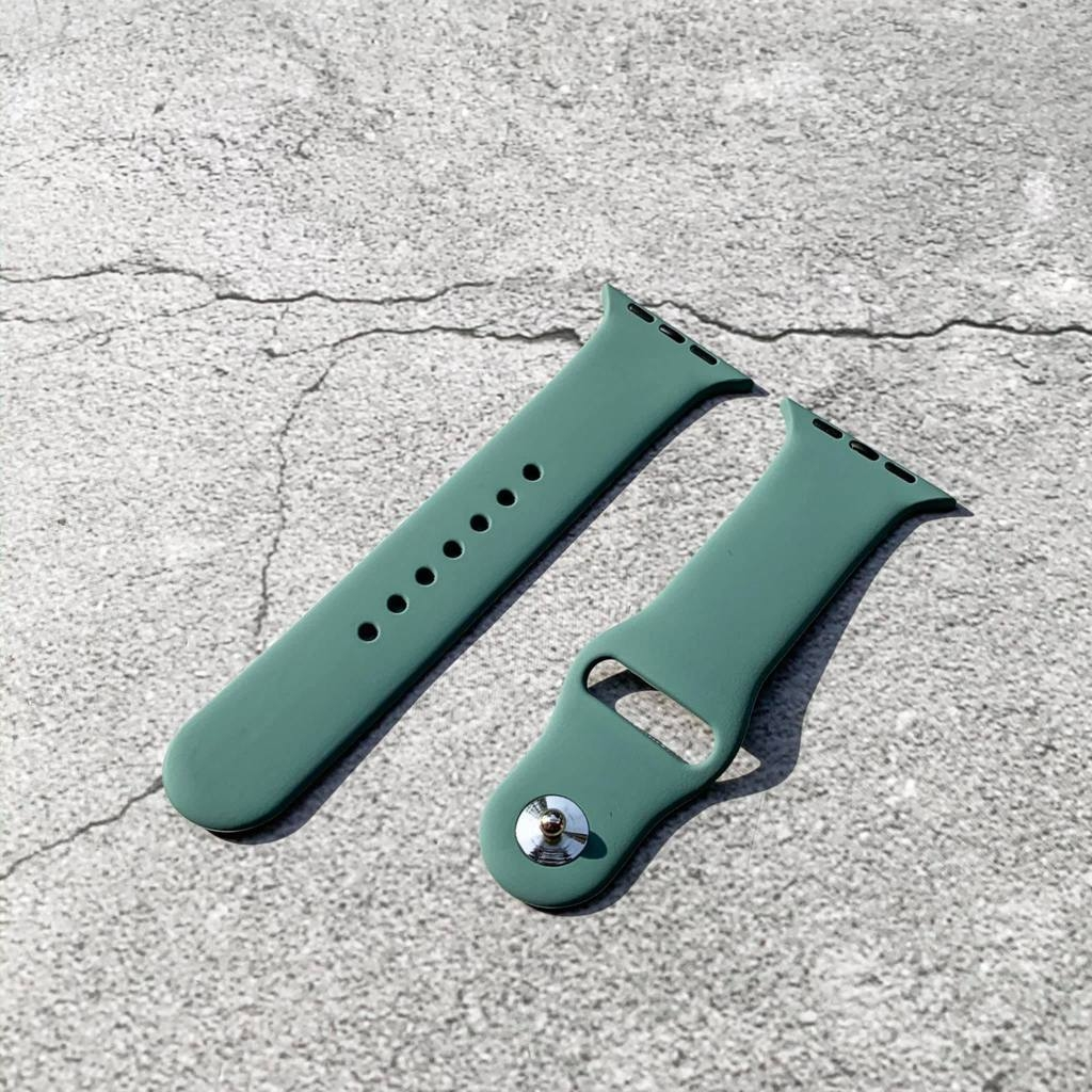 Dây cao su sport Apple Watch Pine Green