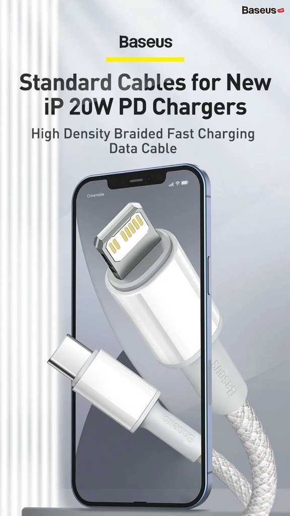 Cáp sạc nhanh Baseus High Density Braided Fast Charging Data Cable Type-C to iP PD 20W