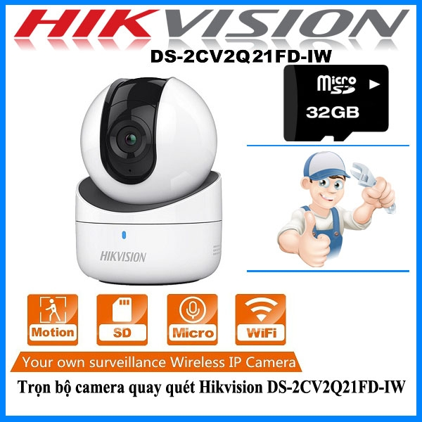 Camera IP Robot Wifi Hikvision DS-2CV2Q21FD-IW