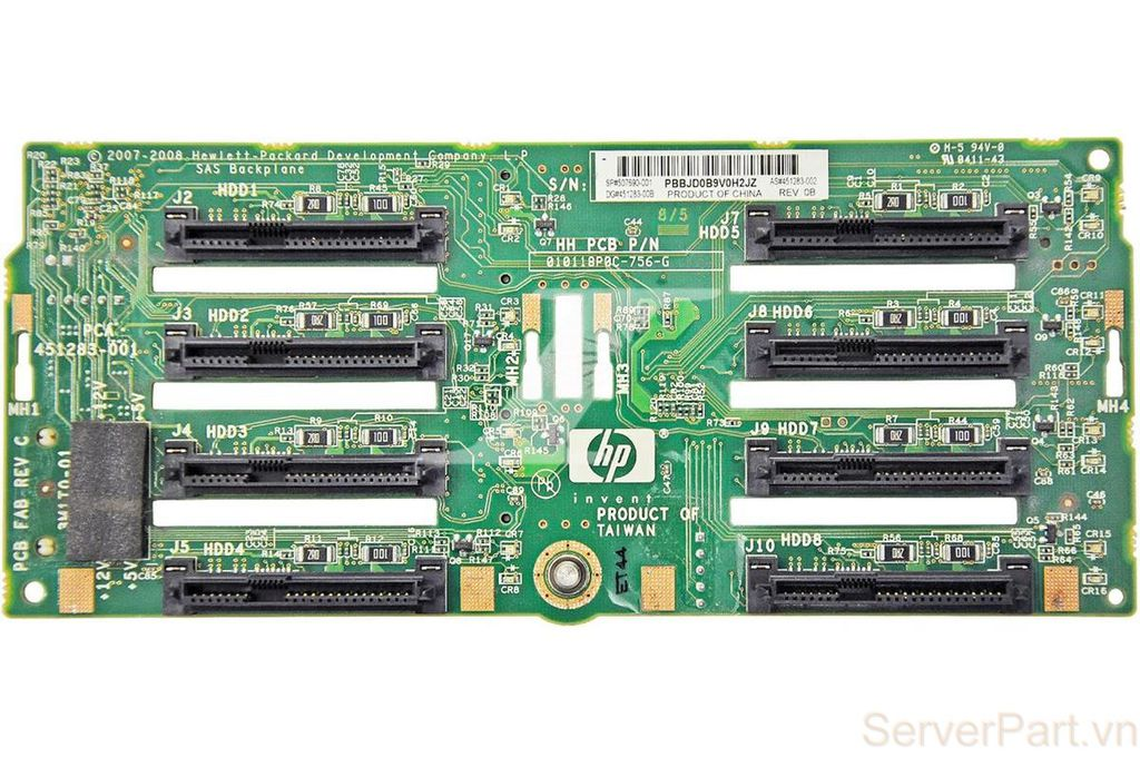 10130 Bo mạch ổ cứng HP Backplane hdd DL380 G6 G7 DL385 G5 8 port 2.5