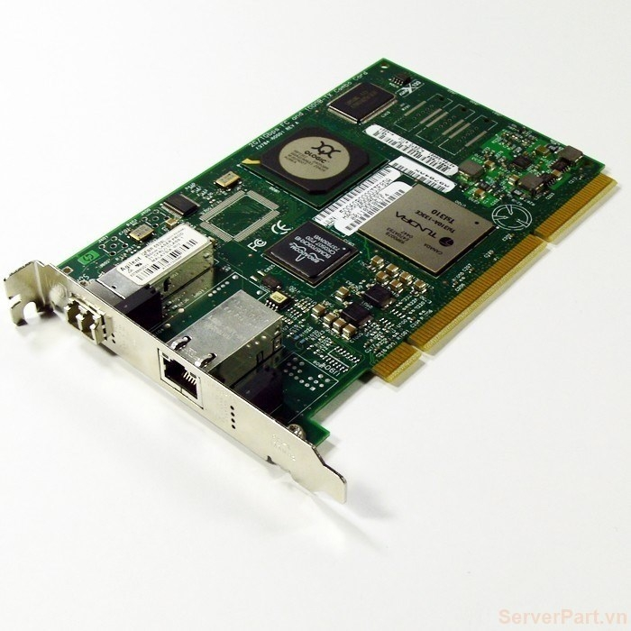 10482 Card HBA FC pci-x HP A9784A 2Gb 1 port FC SFP (2Gb) 1 port RJ45 (1Gb) A9784A