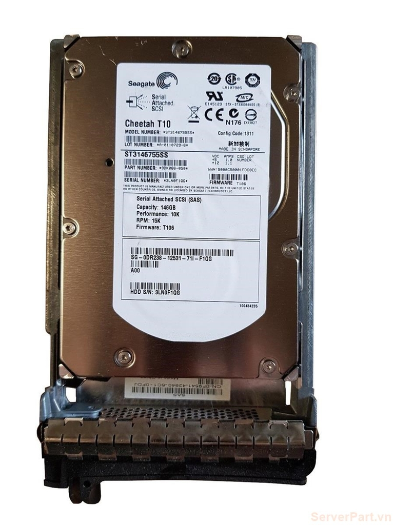 11255 Ổ cứng HDD sas Dell 146gb 10k 3.5