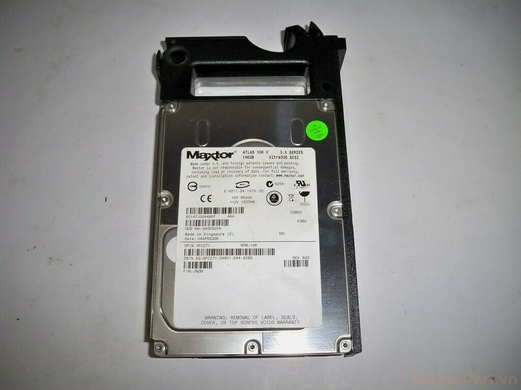 11638 Ổ cứng HDD scsi 80 pin Dell 146gb 10k 3.5