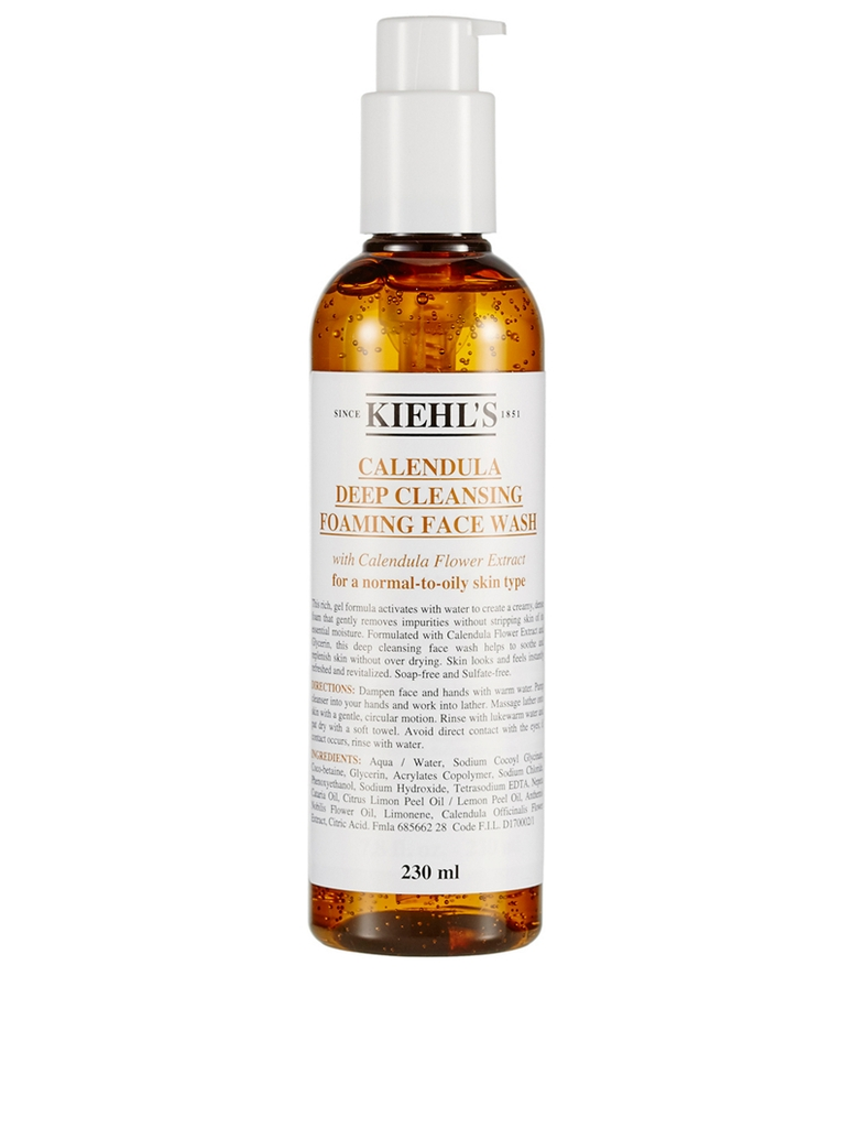 SRM Kiehl's Calendula Deep Cleansing Foaming Face Wash 230ml