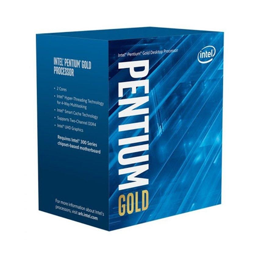 CPU Intel Pentium Gold G6400 (4.0GHz, 2 nhân 4 luồng, 4MB Cache, 58W) - Socket Intel LGA 1200) - Hải Anh Computer